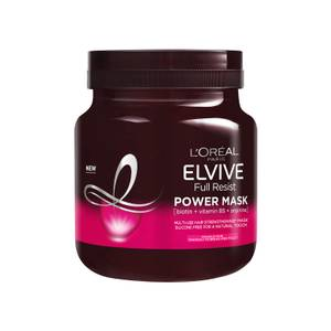 L'Oréal Elvive Full Resist Fragile Hair Multi-Use Hair Strengthening Power Mask with Biotin for Hair Fall 680ml