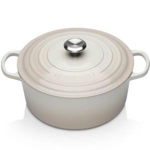 Le Creuset Signature Cast Iron Round Casserole Dish - 28cm - Meringue