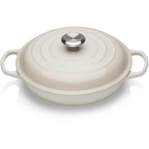 Le Creuset Signature Cast Iron Shallow Casserole Dish - 26cm - Meringue