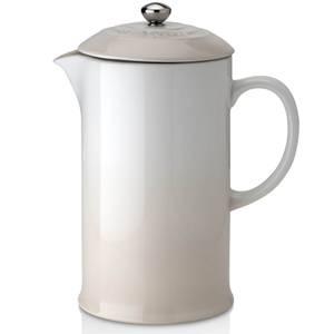 Le Creuset Stoneware Cafetiere Coffee Press - Meringue