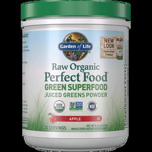 Raw Organic Perfect Food a base di vegetali polifunzionali - mela - 231g