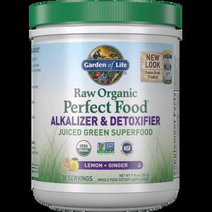 Raw Biologische Perfecte Voeding Alkaliserend en Ontgiftend - citroen-gember - 282 g