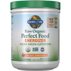 Raw Organic Perfect Food energizzante - yerba mate e melagrana - 276g