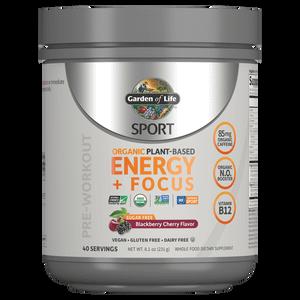Sport Organic Plant-Based Energy - Sugar Free Blackberry Cherry - 231g