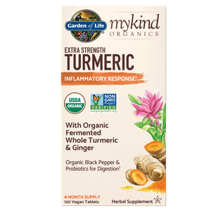 mykind Organics Противовоспалительный комплекс - Куркума усиленного действия - 120 таблеток