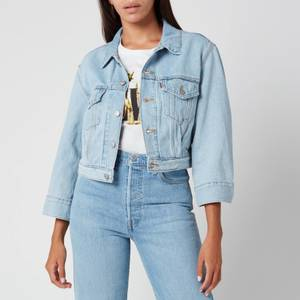 Levi's Women's Loose Sleeve Trucker Jacket - Loosey Goosey Trucker