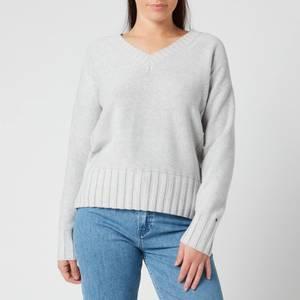 Tommy Hilfiger Women's Aimy V Neck Sweatshirt - Light Grey Heather