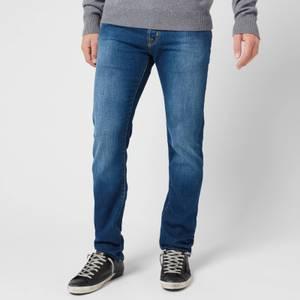 Jacob Cohen Men's Turquoise Badge Slim Denim Jeans - Blue