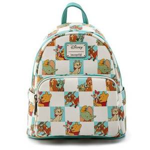 Loungefly Disney Mint Checker Mini Backpack