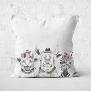 Baby Animals Square Cushion