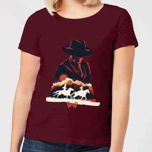 Westworld The Door Women's T-Shirt - Burgundy