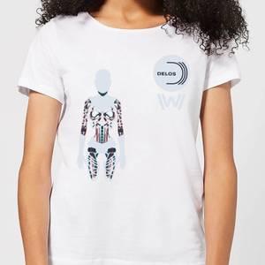 Westworld Delos Host Women's T-Shirt - White