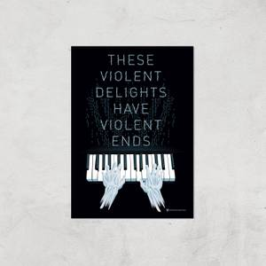 Westworld Violent Delights And Violent Ends A2 Giclee Art Print