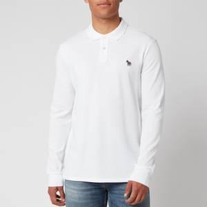 PS Paul Smith Men's Long Sleeve Zebra Polo Shirt - White