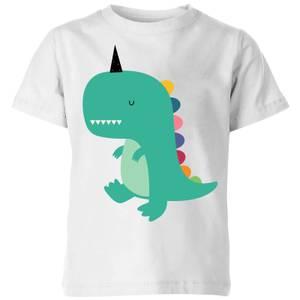 Andy Westface Dinocorn Kids' T-Shirt - White