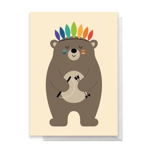 Andy Westface Be Brave Greetings Card