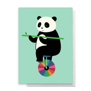 Andy Westface Balanced Bear Greetings Card