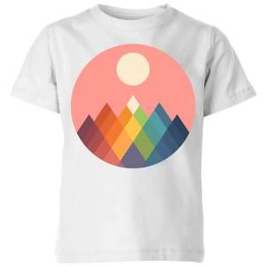 Andy Westface Rainbow Peak Kids' T-Shirt - White