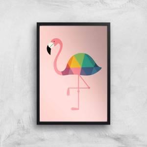 Andy Westface Rainbow Flamingo Giclee Art Print