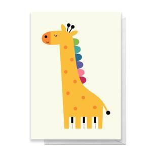Andy Westface Giraffe Piano Greetings Card
