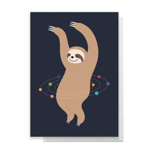 Andy Westface Sloth Galaxy Greetings Card