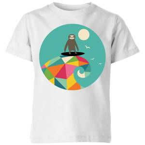 Andy Westface Surfs Up Kids' T-Shirt - White