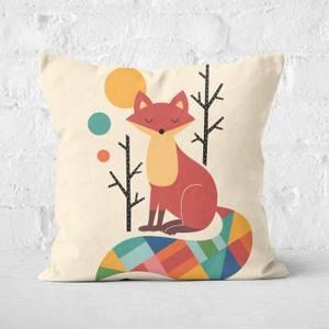 Andy Westface Rainbow Fox Square Cushion