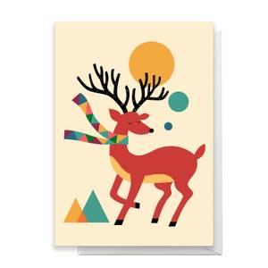 Andy Westface Reindeer Greetings Card