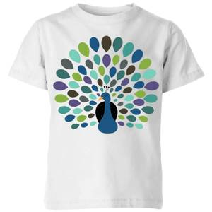 Andy Westface Peacock Time Kids' T-Shirt - White