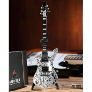 Axe Heaven KISS Paul Stanley Cracked Mirror Iceman Miniature Guitar Replica
