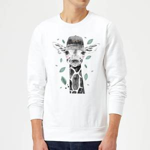 Rainbow Giraffe Sweatshirt - White