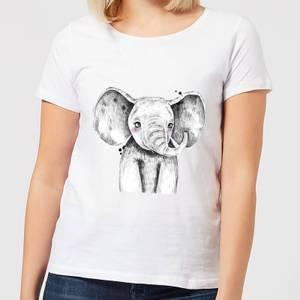 Cute Elephant Women's T-Shirt - White