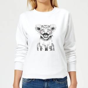 Moustache Cub Women's Sweatshirt - White