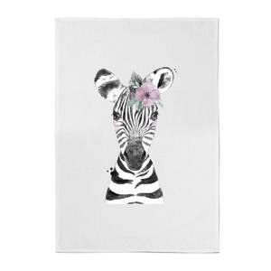 Floral Zebra Cotton Tea Towel