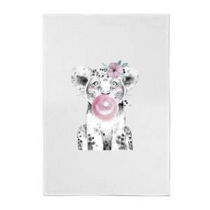 Bubblegum Cub Cotton Tea Towel