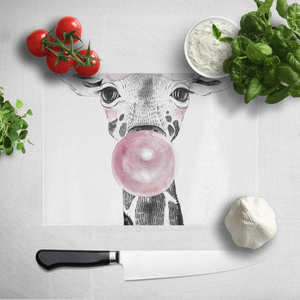 Bubblegum Giraffe Chopping Board