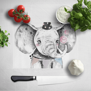 Party Elephant Chopping Board