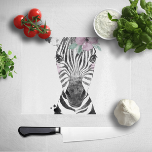 Floral Zebra Chopping Board