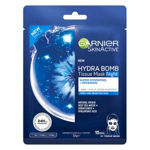 Garnier SkinActive Hydra Bomb Tissue Mask Night - Super Hydrating and Repairing (1 Mask)