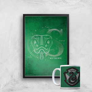 Harry Potter Slytherin Mug & A4 Print
