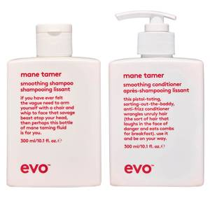 evo Mane Tamer Smoothing Shampoo and Conditioner