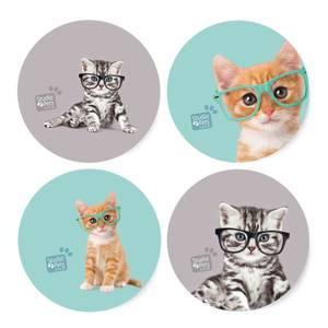 Studio Pets Shady Cats Coaster Set