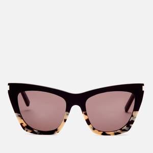Saint Laurent Women's Kate Cat Eye Acetate Sunglasses - Havana/Black