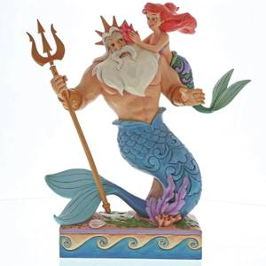 Enesco Disney Traditions Daddy's Little Princess - Ariel and Triton Figurine 25cm