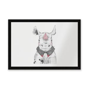 Clown Rhino Entrance Mat