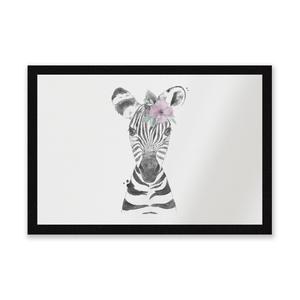 Floral Zebra Entrance Mat