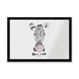 Bubblegum Zebra Entrance Mat