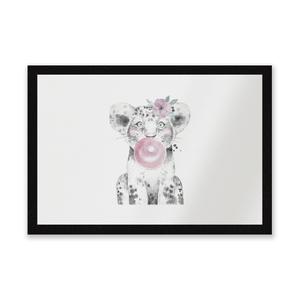 Bubblegum Cub Entrance Mat