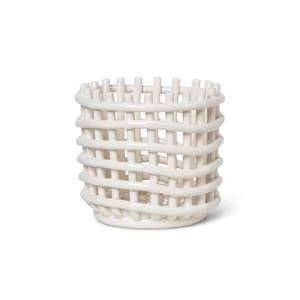 Ferm Living Ceramic Basket - Off White - Small