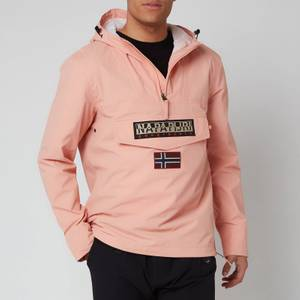 Napapijri Men's Rainforest Sum T Hooded Popover Jacket - Coral Pink